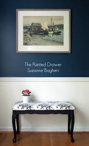 thrift store bench gets a makeover in black suzanne bagheri