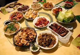 thanksgiving dinner spread lunar new year dinner