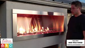 gss48 galaxy outdoor gas fireplace product review youtube