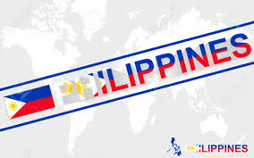 Philippines On World Map by Philippines Map Flag And Text Illustration On World Map Royalty
