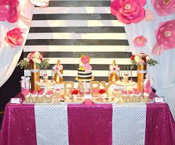 Baby Shower Table Centerpieces by Kate Spade Inspired Baby Shower Baby Shower Ideas Themes Games