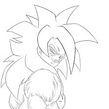 dragon ball z coloring pages super saiyan 4 coloring page