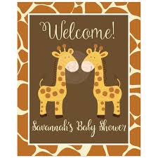baby shower giraffe baby shower giraffes giraffe print welcome sign