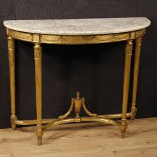 20th century french demilune console table in louis xvi style c