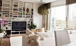 Fashionable European Apartment Family Room With Shelve Wall Part - European apartment design