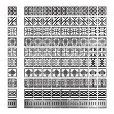 asian frame ornament pattern brush korean chinese japanese vector