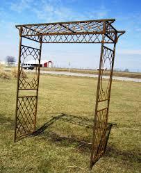 metal annabelle romantic garden arbor rustic trellis