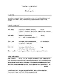 It Resume Templates Good Objectives For Resume Resume Templates