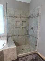 Small Bathroom Shower Ideas Love This Look A The Gained Space By Going Over To The Tub Side