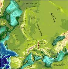 Real Map Of The World by J R R Tolkien U0027s