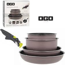 achat batterie de cuisine batterie de cuisine 5 pièces ogo easyclip achat vente batterie