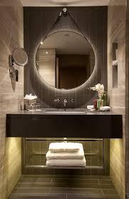 hilton bankside uk guestroom bathroom lighting by elektra