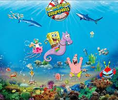 8x8ft under blue sea reef sponge bob baby square pants patrick