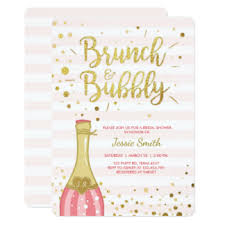 bridal shower invitations brunch brunch and bubbly invitations announcements zazzle