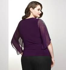 purple blouse plus size purple encrusted cold shoulder blouse plus size special occasion