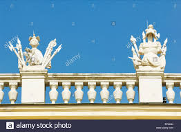 ornaments on the balcony of the schoenbrunn castle vienna