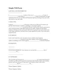 sample last will and testament of form 8ws templates forms pdf