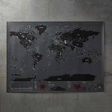 World Scratch Map by World Scratch Map Black Moderndek Touch Of Modern