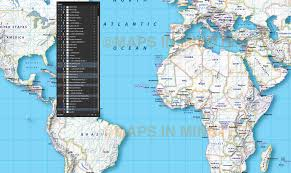 Vector World Map Digital Vector Map Gall Projection Political World With Insets