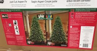 ge 7 5ft pre lit led just cut aspen fir artificial tree