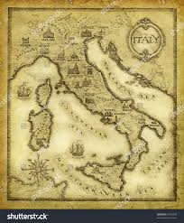 Map Of Italy by Map Italy Drawn Ink On Paper Stock Illustration 37070230