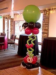 smiling monkey face balloon column for a circus theme child