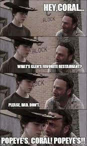 Hey Carl Meme - 35 of the best walking dead carl meme coral dad jokes