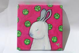tableau pour chambre d enfant lapin blanc tableau pour chambre d enfant fond avec choux verts