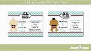 bow tie and mustache baby shower little man mustache baby shower theme showcase youtube