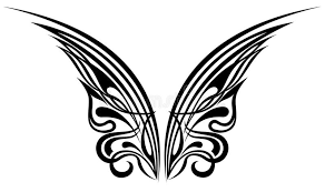 wings tattoo design elements royalty free stock photo image