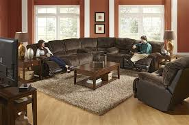 escalade 3 piece power reclining sectional in chocolate walnut two