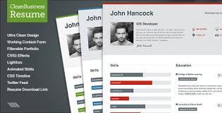 html resume template creative web html resume template title