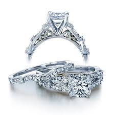 certified 1 carat vintage princess diamond wedding ring set