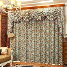 Retro Curtains Retro Peony Floral Chenille Jacquard Teal Vintage Curtains