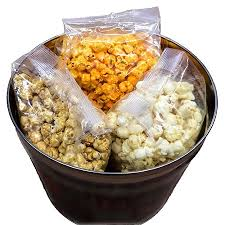 bouquet 2 gallon 3 way popcorn tin just poppin