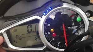 dash menu run through new triumph street triple r 2013 youtube