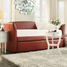 faux leather daybed wayfair