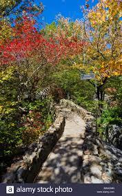 fall foliage in rock city gardens on lookout mountain georgia