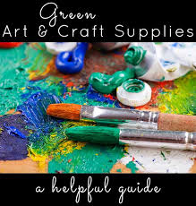 green and craft supplies