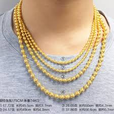 round beads necklace images Usd 2079 85 diamond phoenix gold necklace men 39 s gold 999 round jpg