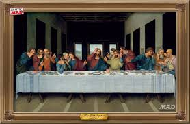 the last supper with cell phones mad magazine