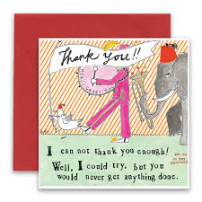 thank you greeting card curly design