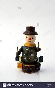 Wooden Toy Christmas Tree Decorations - figure wearing a hat with a drum drummer wooden christmas tree