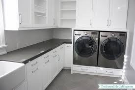 washing machine in kitchen design downstairs laundry room the sunny side up blog