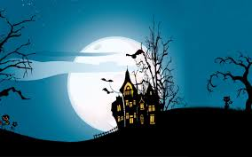 halloween trees background halloween castle at night 6929384
