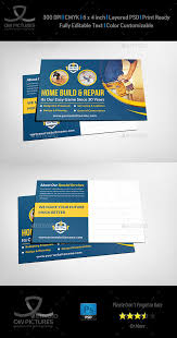 construction postcard template by owpictures graphicriver