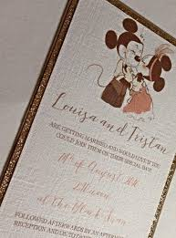 Wedding Invitations Packages Disney Inspired Minnie U0026 Mickey Mouse Wedding Invitation Package