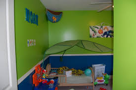 Kids Bedroom Wall Paintings Green Blue White Contemporary Bedroom Design Interior Design Ideas