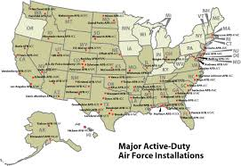 Map Of Mountains In United States by Map Of Air Force Bases In United States Exactly What I Need For