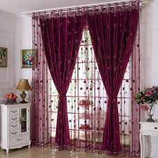 Curtains Set Luxury Embroidered Window Curtains Set For Living Room European